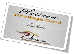 Australian Education Corp. Platinum Card